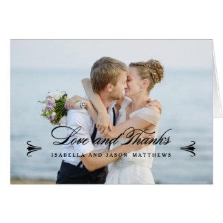 So in der Liebe danken Wedding | Ihnen Mitteilungskarte