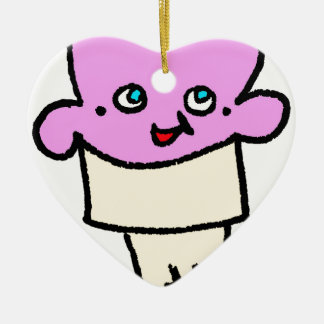 So Kawaii Eistüteerdbeere mit Gesicht Keramik Ornament