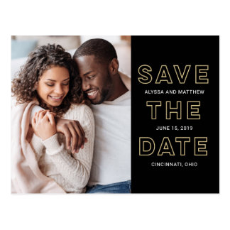 So Liebe in der EDITABLE FARBESave the Date Postkarte
