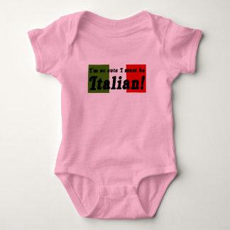 So niedlich muss ich italienisches Säuglings-Shirt Babybody