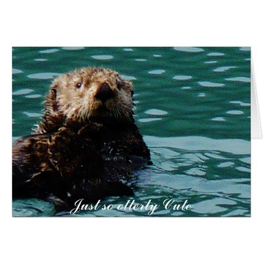 So Otterly niedliches Seeotter notecard Mitteilungskarte