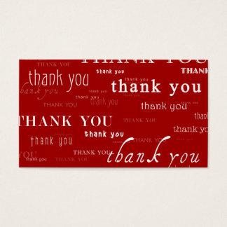 so viele danken yous für Ihre Empfehlung Visitenkarten
