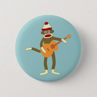 Socken-Affe-Akustikgitarre-Knopf Runder Button 5,7 Cm