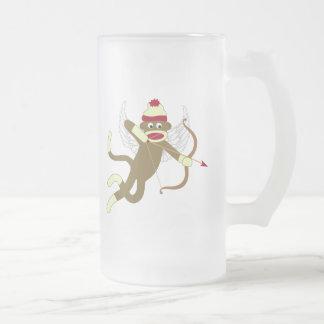 Socken-Affe-Amor Mattglas Bierglas