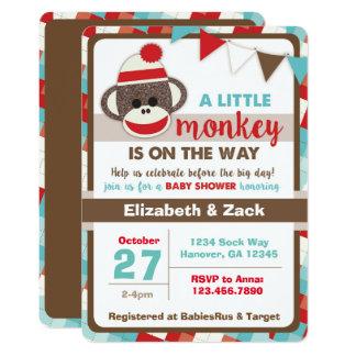 Socken-Affe-Babyparty-Einladung Karte