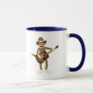 Socken-Affe-Countrymusik Tasse