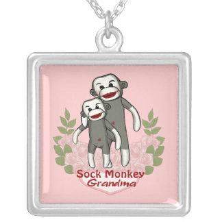 Socken-Affe-Großmutter Versilberte Kette