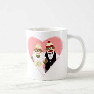 Socken-Affe-Hochzeit Kaffeetasse