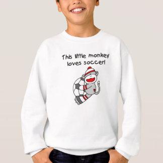 Socken-Affe-Liebe-Fußball-T-Shirts und Geschenke Sweatshirt