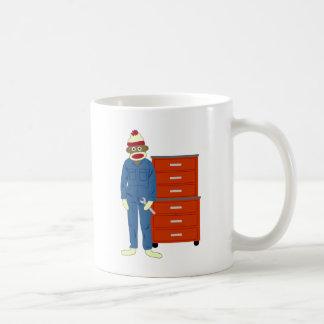 Socken-Affe-Mechaniker Kaffeetasse