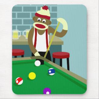 Socken-Affe-Pool-Billiardspieler Mousepad