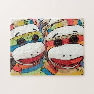 Socken-Affe-Puzzlespiel