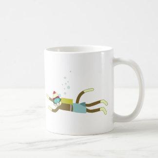 Socken-Affe-Sporttaucher Kaffeetasse