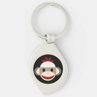 Socken-Affe-Strudel-Metall Keychain Schlüsselanhänger