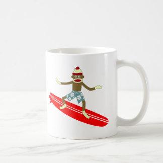 Socken-Affe-Surfer Kaffeetasse