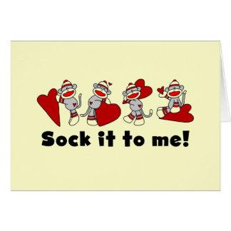 Socken-Affe-Valentinsgruß-T-Shirts und Geschenke Karte