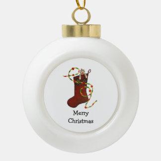 Socken-Affe-Weihnachtsverzierung Keramik Kugel-Ornament