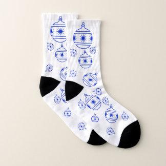 Socken - Baum-Dekorationen im Blau