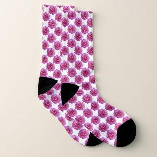 Socken - dunkle rosa Rosen
