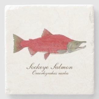 Sockeye-Lachs-Untersetzer 1 von Set 4 Steinuntersetzer