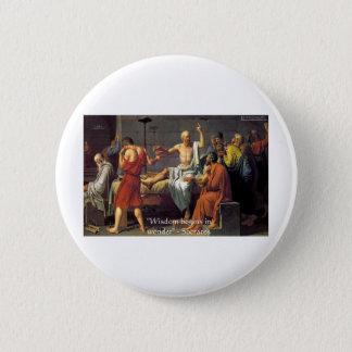 """SOCRATES-""""Klugheits-/Wunder-"""" Runder Button 5,7 Cm"""