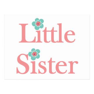soeur de turquoise et de fleur rose petite carte postale