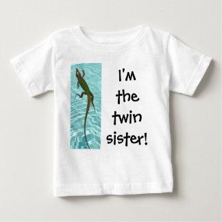 Soeur jumelle - lézard t-shirt pour bébé