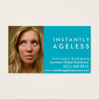Sofort Ageless Skincare Foto-Geschäfts-Karte Visitenkarte