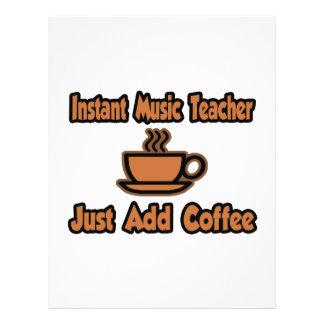 Sofortiger Musik-Lehrer… addieren gerade Kaffee Flyerbedruckung