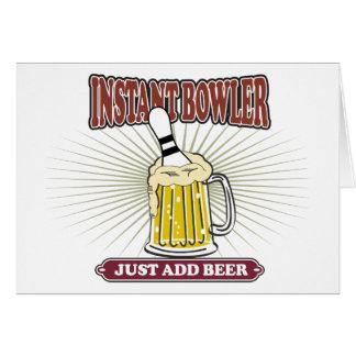 Sofortiger Werfer addieren gerade Bier Karte