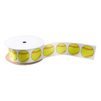 Softball-dekoratives einwickelnband satinband