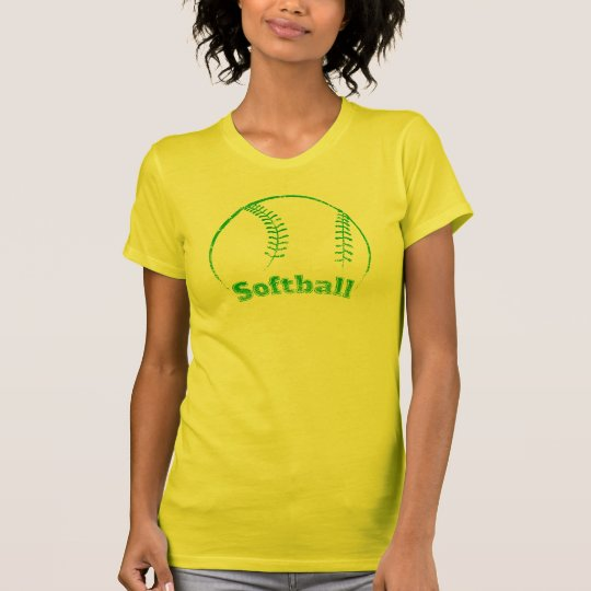 Softball gebogener Schmutz T-Shirt