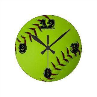 Softball-Uhr Runde Wanduhr
