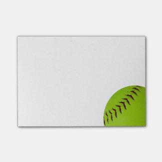 Softballpost-itanmerkungen Post-it Klebezettel