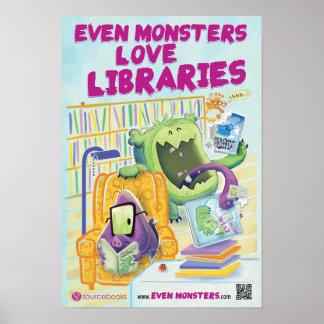 """Sogar Monster-Liebe-Bibliotheken 13"""" x 19"""" Plakat"""
