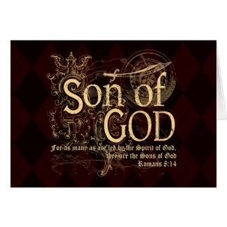 Sohn des Gottes, Römer-8:14 christlich Grußkarte