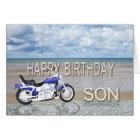Sohn, eine Geburtstagskarte mit einem Karte