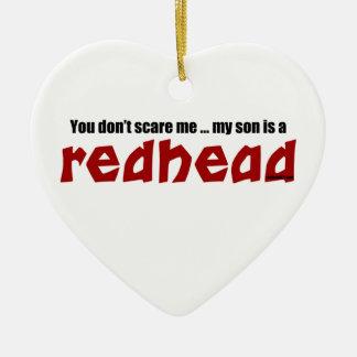 Sohn ist ein Redhead Keramik Herz-Ornament