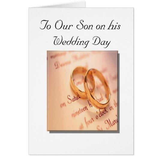 Sohn-und der Tochter Hochzeitstag-Karte Karte