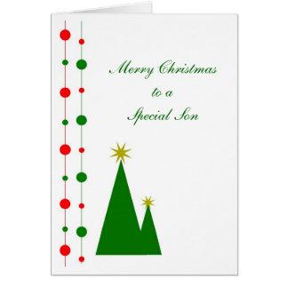 Sohn-Weihnachtskarten-Weihnachtsbäume Karte