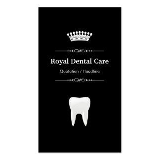 Soins dentaires - blanc noir moderne professionnel carte de visite standard