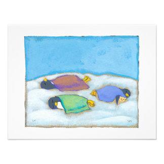 Soirée pyjamas adorable sommeillante d amusement d faire-parts