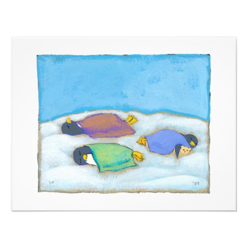 Soirée pyjamas adorable sommeillante d'amusement d faire-parts