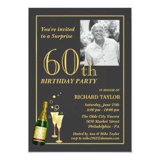 Soixantième invitations customisées de fête