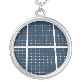 Solarbatteriefeld Versilberte Kette
