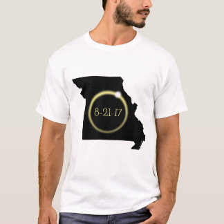 Solareklipse-Korona-Missouri-Silhouette T-Shirt