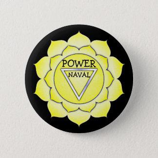 Solarplexus-Gelb-Power-Chi Chakra Knopf Runder Button 5,1 Cm