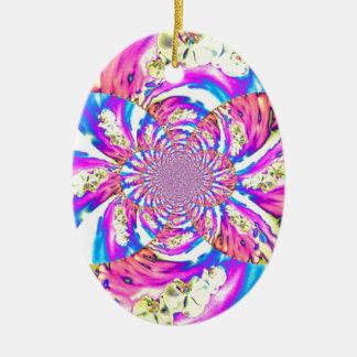 Solarsonnenaufgang-Orchidee Keramik Ornament