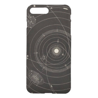 Solarsystems-Kometen-Stern-Vintage himmlische Bahn iPhone 8 Plus/7 Plus Hülle
