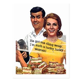 """Solch eine glückliche Frau "" Postkarte"